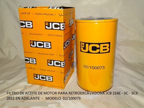 Retroexcavadora Filtros Jcb
