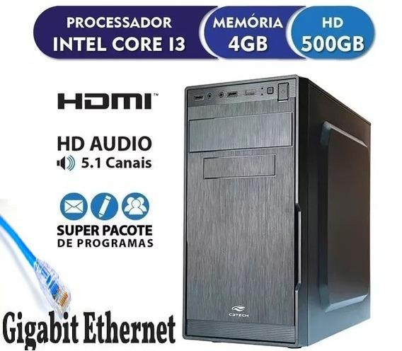 Pc Computador Cpu Core I3, 4gb, 500gb,* Novo* -limpa Estoque