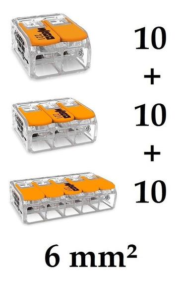 Kit Conector Wago Compacto Emenda Modelo 221 6mm - 101010