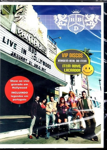 Dvd Rbd Live In Hollywood Original Novo Lacrado Raro!!!