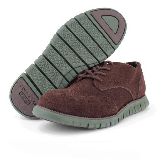 Zapato Oxford Cole Haan Para Niño Café Suela Zero Gran Verde