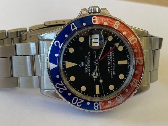 Relogio Rolex Gmt Master 1675 Aço Ano 1970 Serial 42******.