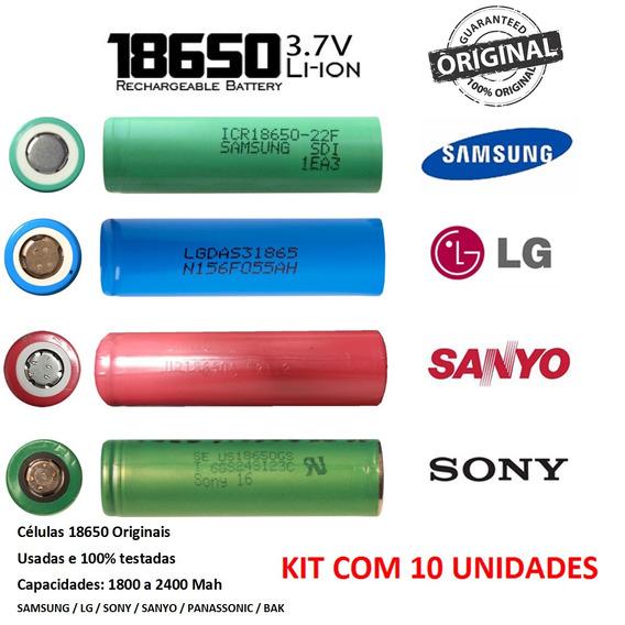 18650 Células Usadas - 1800 A 2400 Mah - Kit 10 Un
