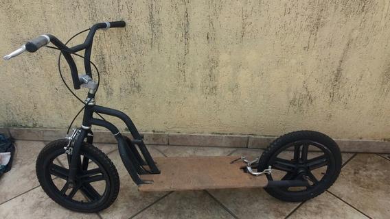 Bike Patinete Scooter Para Fazer Eletrico Aro 16 Preto