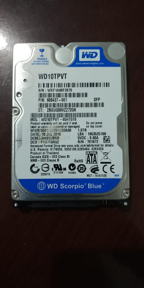 Hd 1tb Western Digital Scorpio Blue 5200rpm Sata 3gbps 8mb