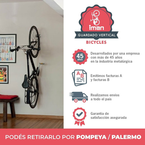 Soporte P Colgar Bicicleta Vertical - Alojamiento Antirobo