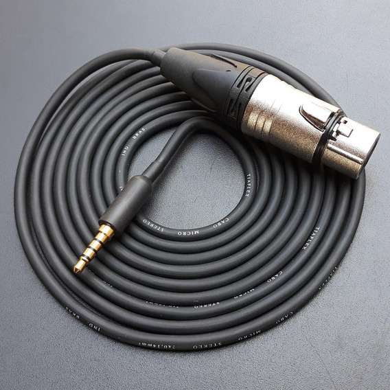 Cabo P/ Ligar Microfone Externo De Mão No Celular - P3/p2