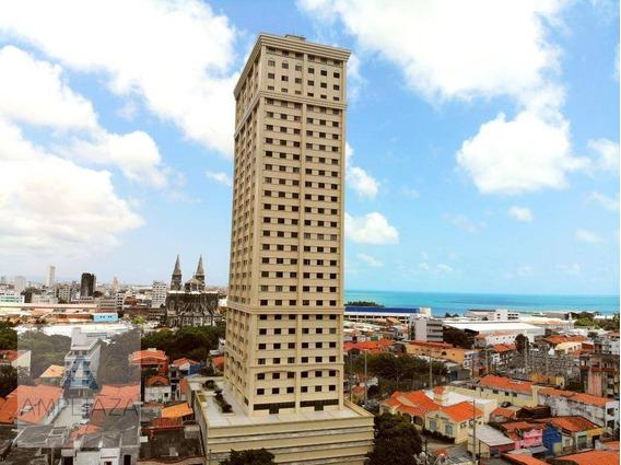 Apartamento Com 2 Dormitórios À Venda, 45 M² Por R$ 250.000 - Centro - Fortaleza/ce - Ap0696