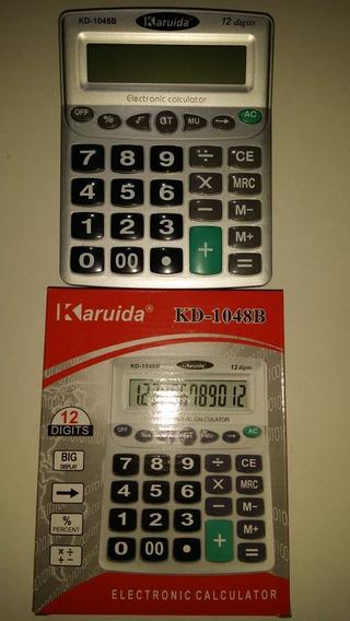 Kit Com 10 Calculadora 1048-b 19.5x15cm Com Nfe