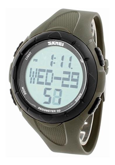 Reloj Militar Para Hombre Militar Deportivo Fitness Ejercicio Campamento Alarma Luz Cronometro Reloj Para Hombre - Verde