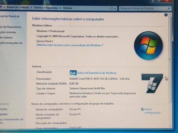 Computador I5, 8gb Ram, 2t Hd, Teclado, Mouse, Monitor