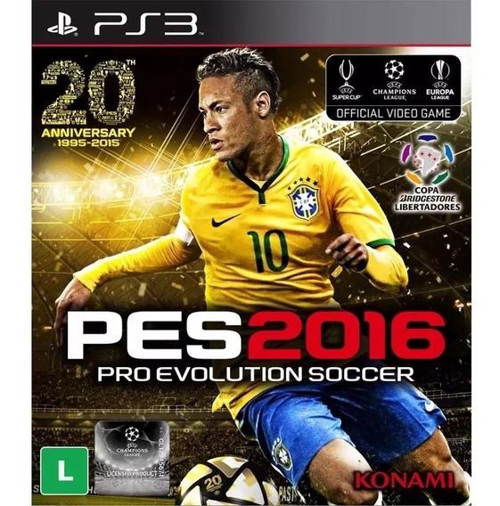 Pro Evolution Soccer 2016 Ps3 Mídia Física Lacrado-original