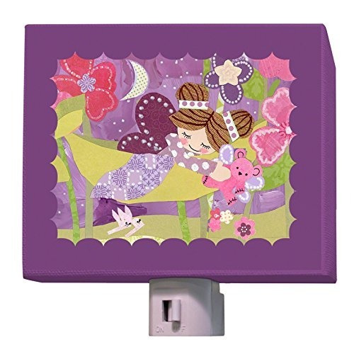 Oopsy Daisy Slumbering Fairy Brunette Night Light, Púrpura,