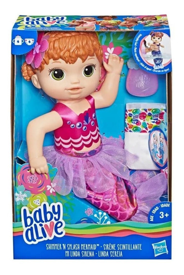 Boneca Baby Alive Original Linda Sereia Ruiva - Hasbro