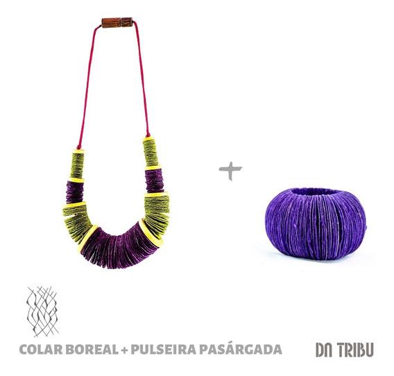 Colar Boreal + Pulseira Pasárgada   Da Tribu - Biojoia