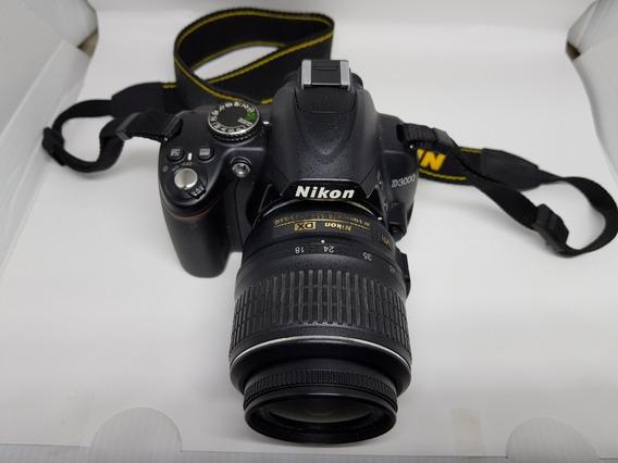 Câmera Nikon D3000+ Bolsa + Bateria Extra + Cartão 4gb