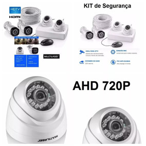 Kit Cftv Dvr 4 Câmeras 720p Hd 12 Metros De Alcance