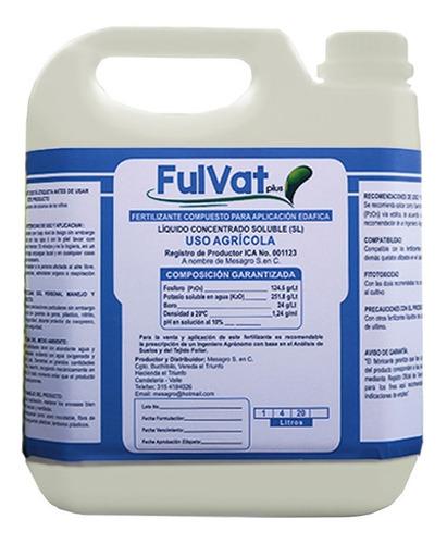 Fertilizante Orgánico Mineral Para Llenado De Frutos X 4l