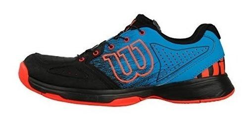 Tenis Wilson Kaos Junior Azul Naranja Niño Alto Rendimiento
