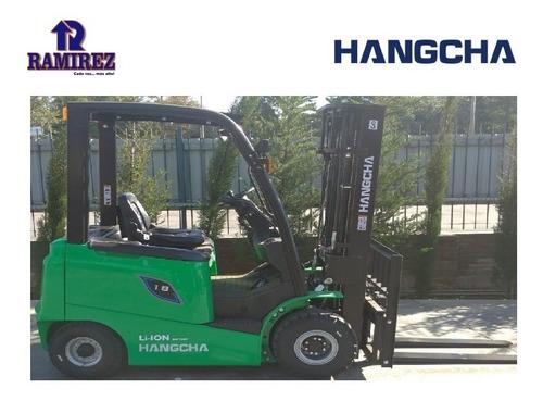 Autoelevador Montacarga Eléctrico Hangcha 1800kg - Litio