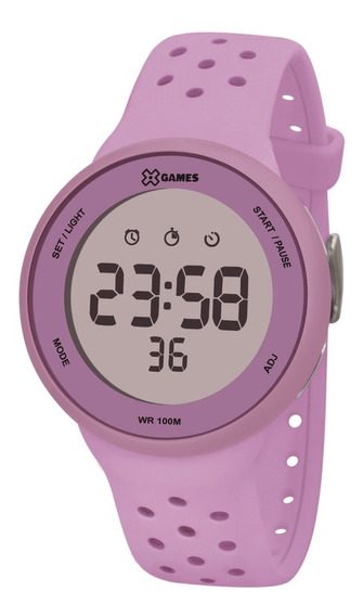 Relógio X-games Feminino Digital Xfppd076 Lxlx Lilas
