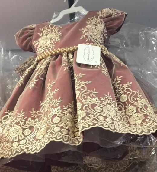 Vestido Festa Casamento Bebê Vinho Natal Luxo Realeza