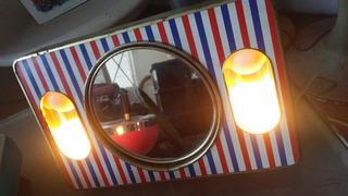 Espejo Lampara Barbero Vintage