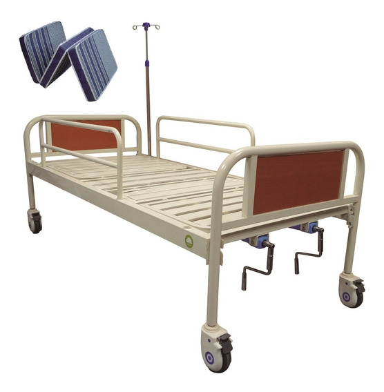Cama Tipo Hospital Manual Con Colchon A Meses Sin Intereses