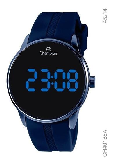 Relógio Champion Masculino Digital Azul Ch40188a
