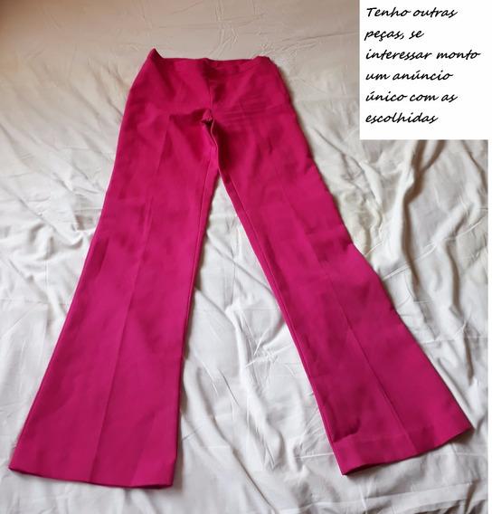 Calça Social Feminina Rosa P Ou M Cod 1600
