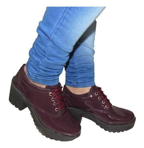Sapato Oxford Tratorado Feminino