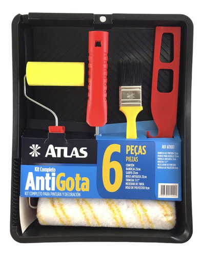 Kit Pintura Completo Rolo Anti-gota 06 Pcs-at1017-atlas