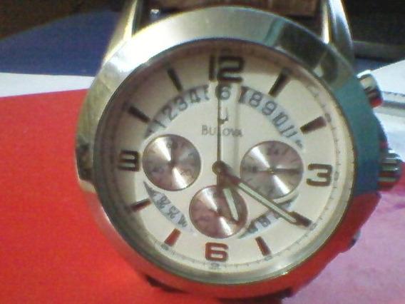 Relógio Bulova Pulseira Couro Usado