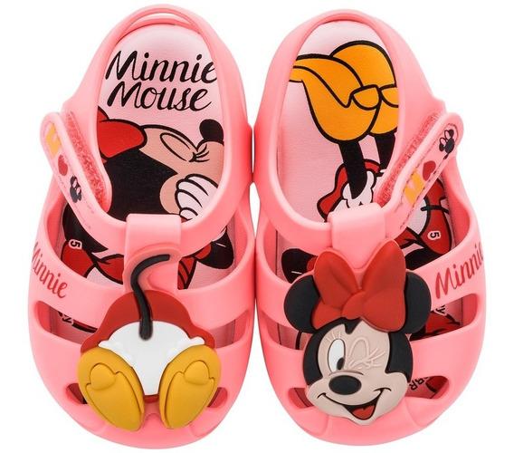 Sandália Infantil Disney Baby Minnie / Mickey Sweet Dreams Rn Grendene Kids 1-00105/106