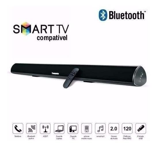 Caixa Som Sound Bar P/ Tv C/ Bluetooth 80w Tomate Controle