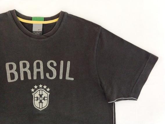 Camiseta Futebol Nike M Cinza Cbf Especial Promoção Original