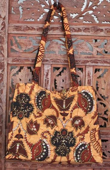 Bolsa Importada Da Indonesia Bali Tecido Bordada