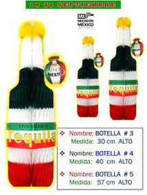Decoración Botella Tequila Chica Fiestas Mexicana, 1 Pz