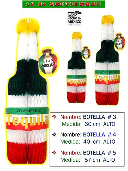 Decoración Botella Tequila Mediana Fiestas Mexicana, 1 Pz