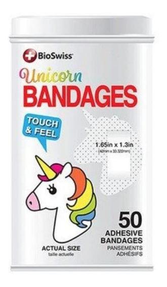 Bandaids Bioswiss Bandages Unicórnio Latinha 50 - Original