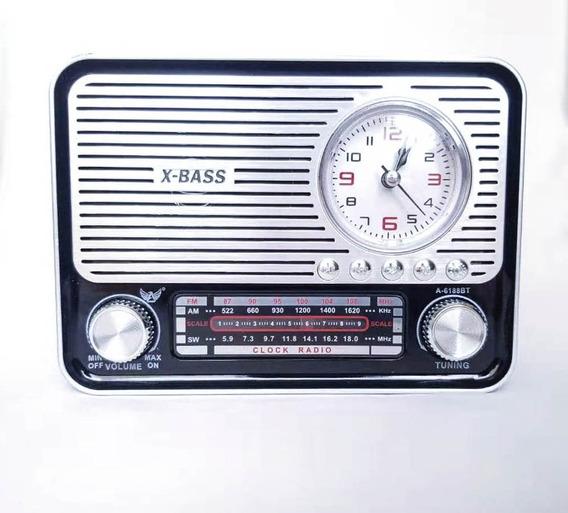 Caixa De Som Bluetooth Altomex A6188bt Radio Am Fm 3bandas