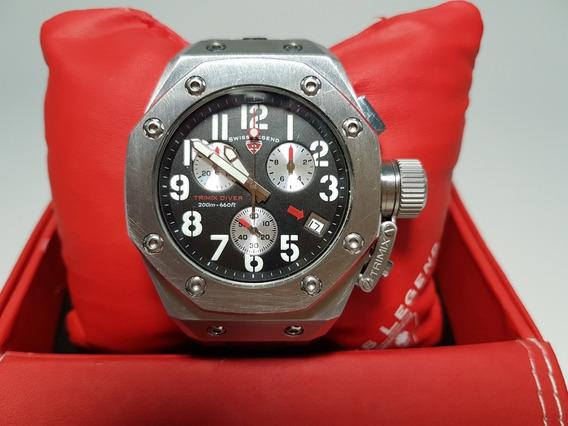 Relógio Suíço Swiss Legend Trimix Diver Em Perfeito Estado