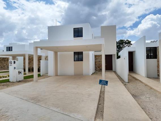 Casa En Privada En Conkal Con Alberca A 15 Min De Altabrisa En Mérida,yucatán