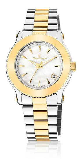 Relógio Pulso Jean Vernier Suíço Moderno Feminino Jv01024