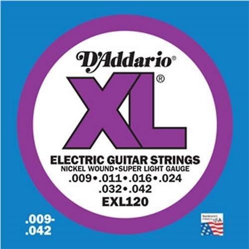 Encordado De Guitarra Electrica D´addario 0.09 Exl120