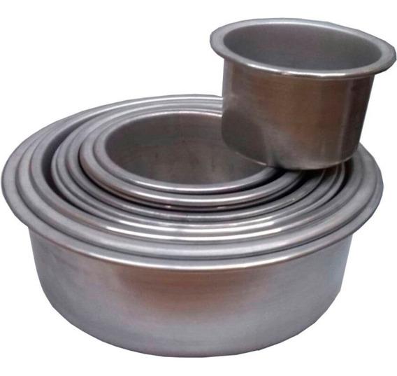 Molde Para Torta Aluminio 10cm Alto X 16cm Diam Tortera Fija