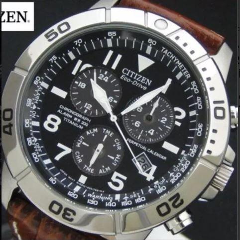Relógio Citizen Eco Drive Bl5250 Calendário Perpétuo Titânio