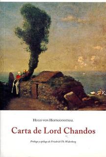 Carta De Lord Chandos, Hugo Von Hofmannsthal, Olañeta