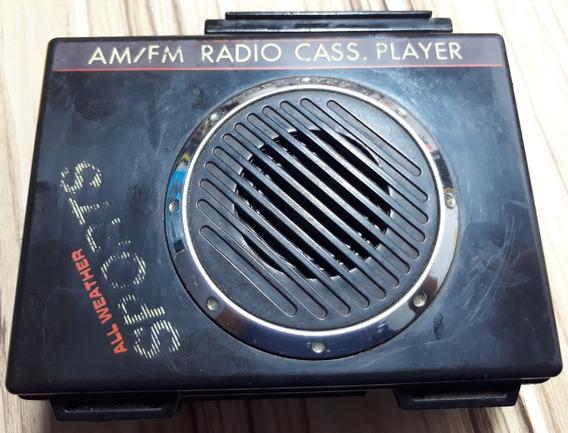 Walkman All Weather Sports Preto ( Funciona Só Rádio Am/fm)