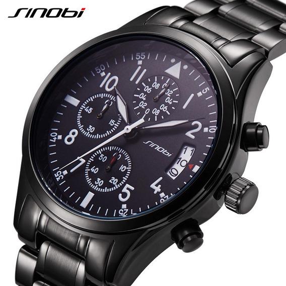 Relógio Sinobi Movimento Quartz Masculino Sport Cronógrafo